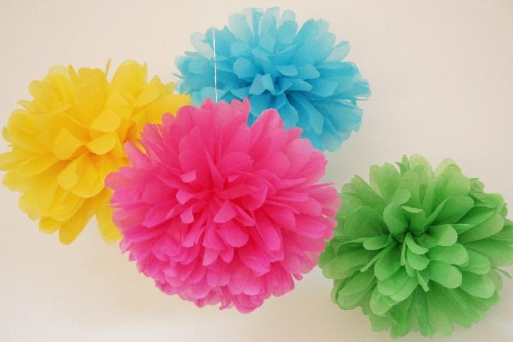 Flores de papel de seda crafts co - Como se hacen flores de papel ...