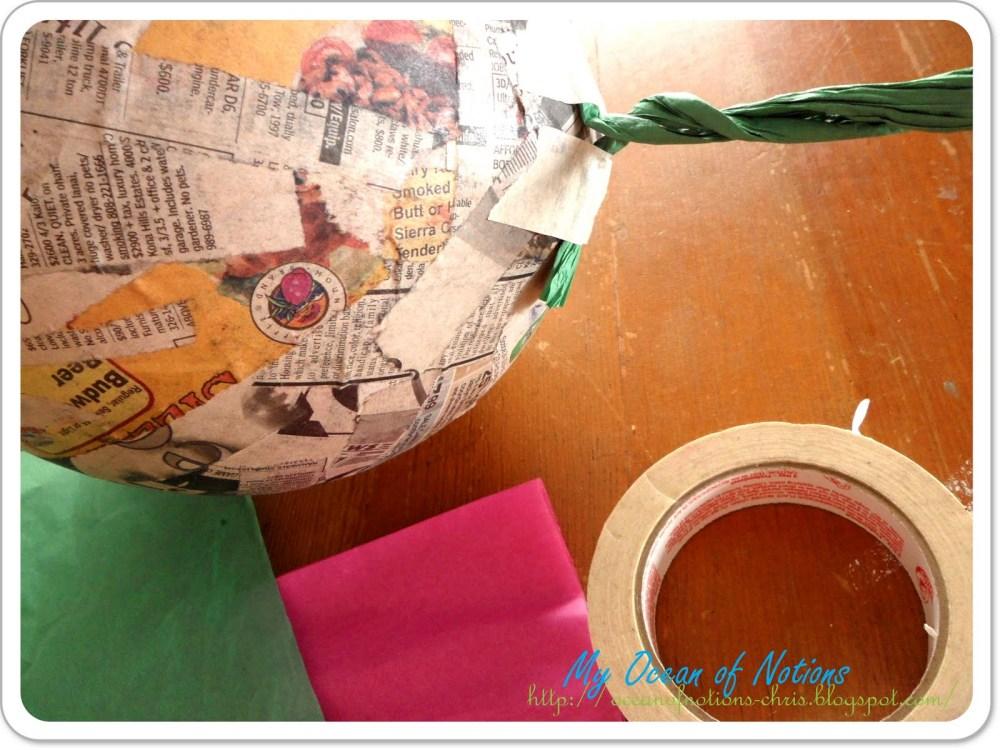 Piñata en forma de fresa (3/6)