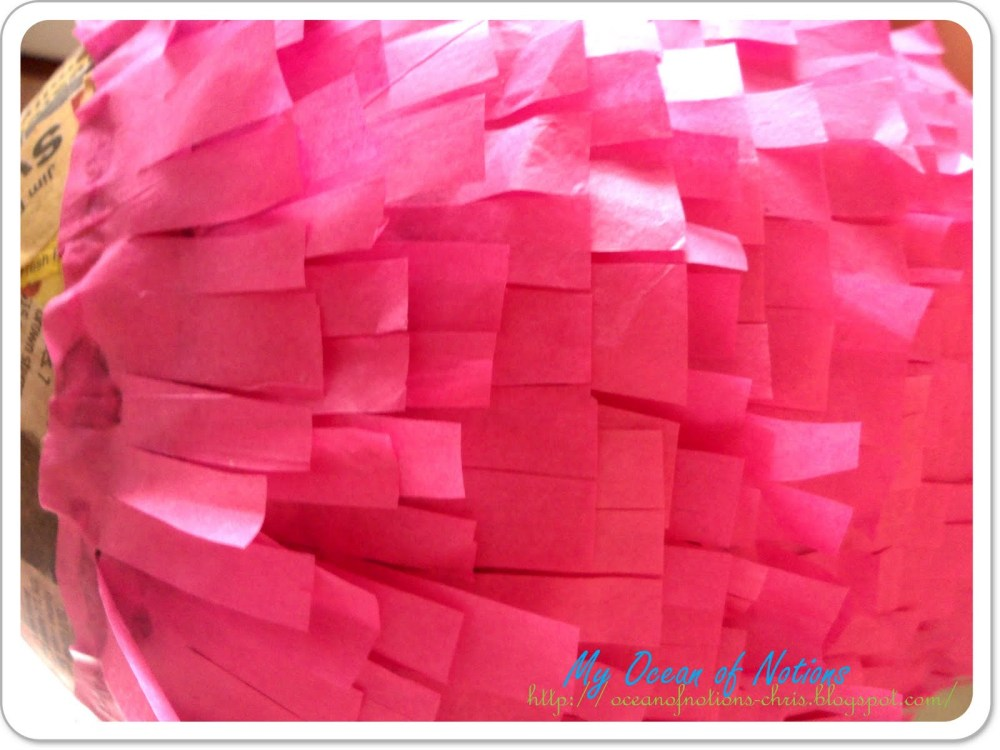 Piñata en forma de fresa (6/6)